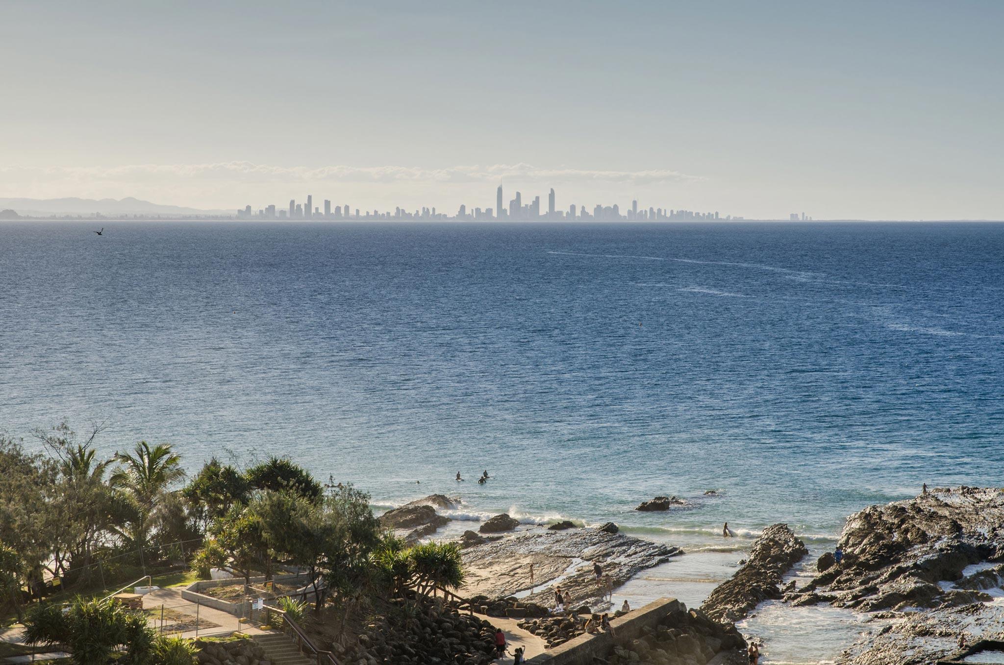 Paesaggi-Australia - DSC 8491 - Surfer-Paradise-Australia-from-Coolangatta - Surfer-Paradise-Australia-from-Coolangatta