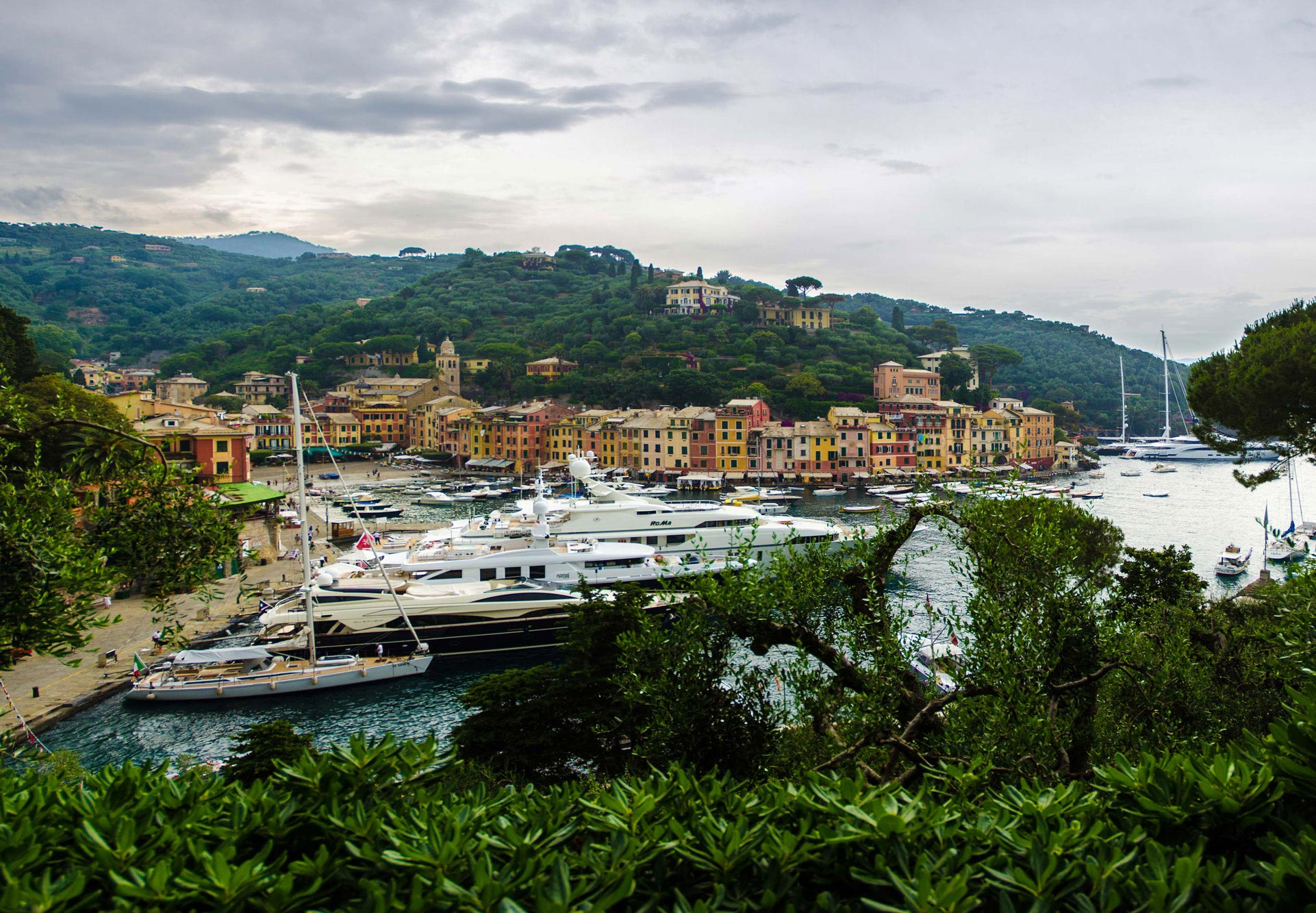 Paesaggi-Italia - Panorama Portofino - Portofino-Liguria-Italia - Portofino-Liguria-Italia