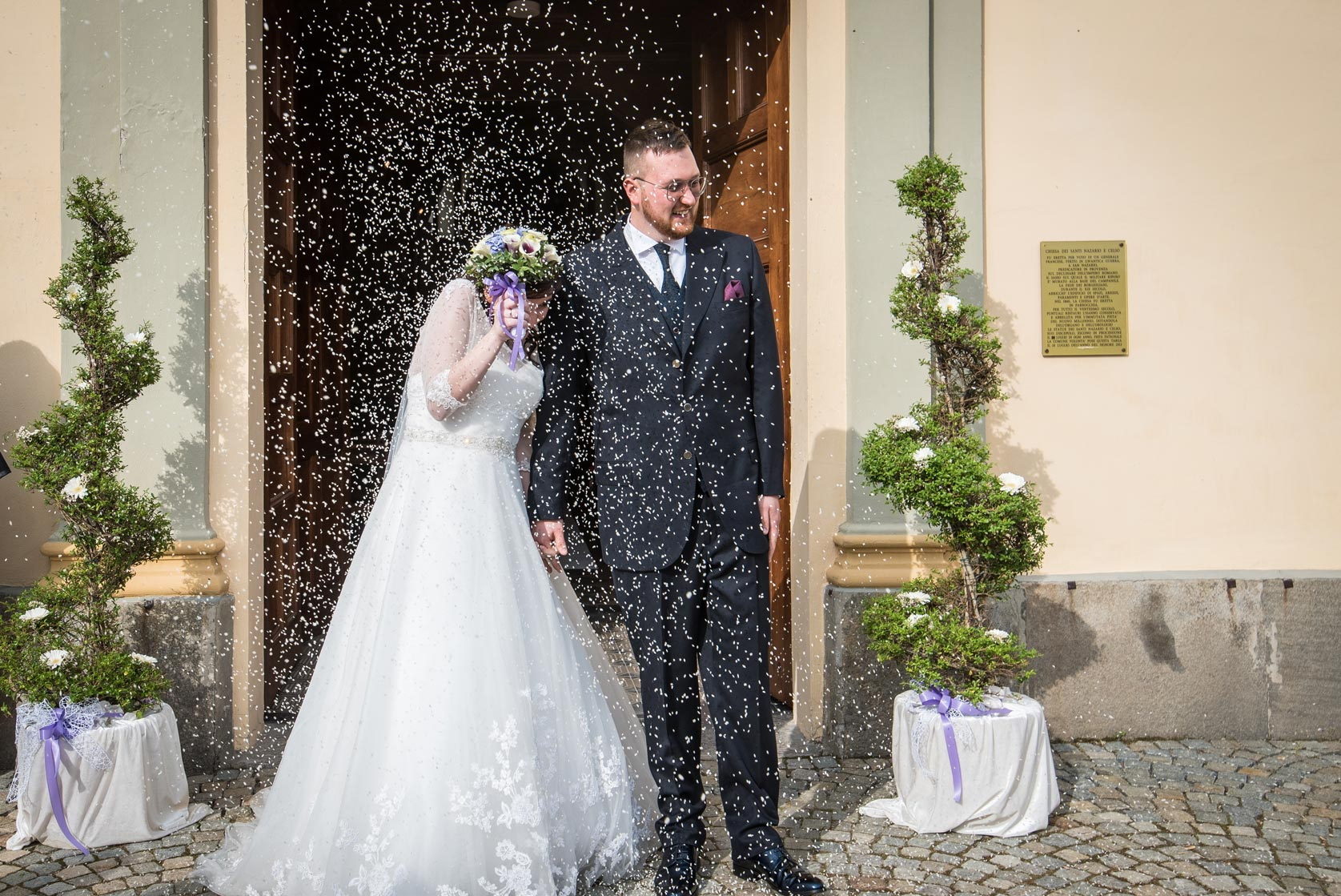 Matrimonio a Narzole Lorenza Diego - DSC 0598 - Fotografie matrimonio riso uscita dalla chiesa - Fotografie matrimonio riso uscita dalla chiesa
