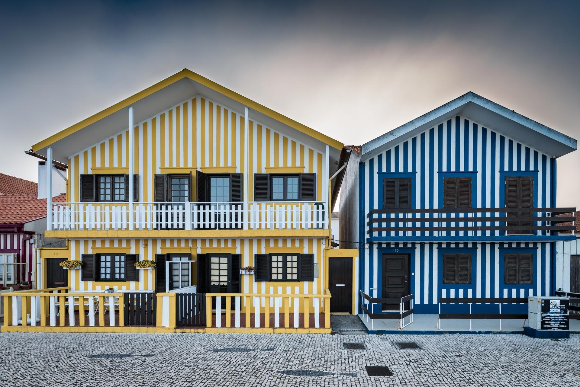 Paesaggi-Portogallo - DSC 2274 - Case a strisce Aveiro - Case a strisce Aveiro