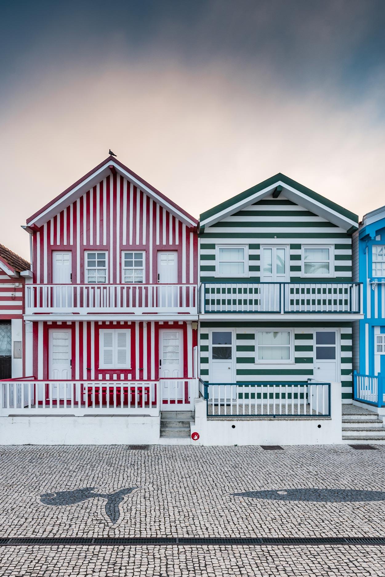 Paesaggi-Portogallo - DSC 2280 - Case a strisce Aveiro - Case a strisce Aveiro