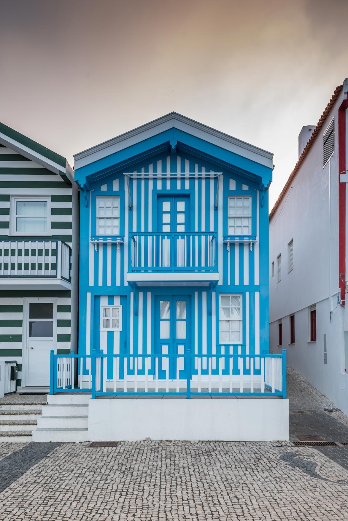 Paesaggi-Portogallo - DSC 2281 - Case a strisce Aveiro - Case a strisce Aveiro