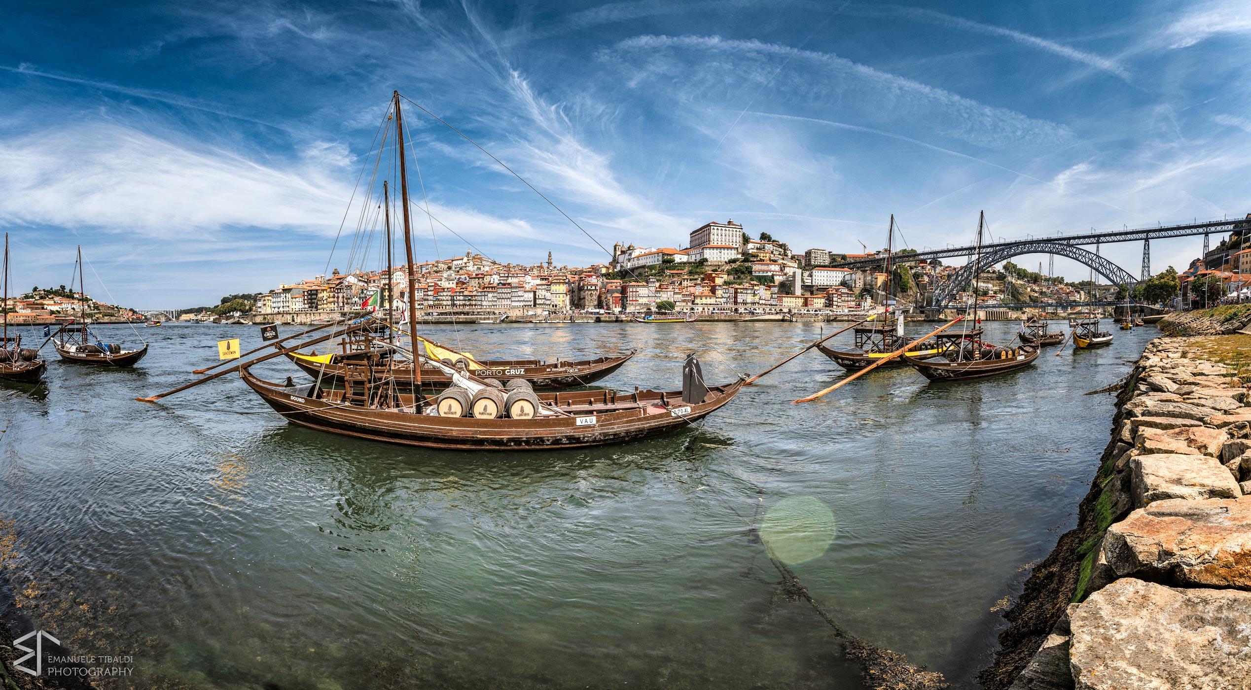 Paesaggi-Portogallo - DSC 2368 - Fiume di Porto, città di Porto - Città Porto e ponte Luis I