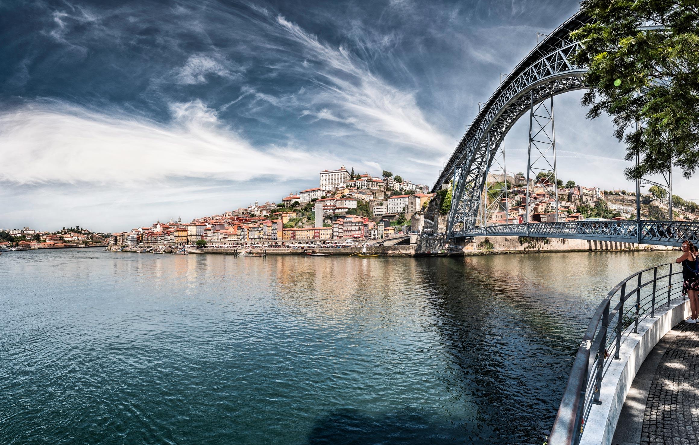 Paesaggi-Portogallo - DSC 2389 1 - Porto con Ponte Dom Luis - Porto con Ponte Dom Luis